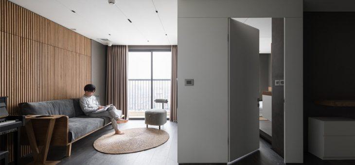 Khoe nội thất chung cư rộng 62m2 đẹp tối giản, tông trắng xám – 100422