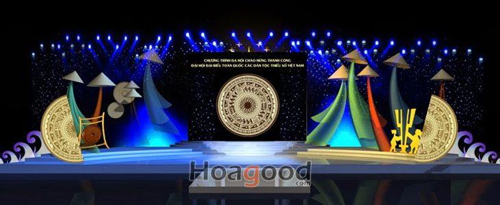 Thiết kế sân khấu giao lưu văn nghệ đại hội đại biểu toàn quốc