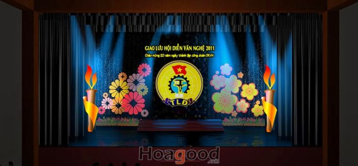 Thiết kế sân khấu Giao lưu hội diễn văn nghệ